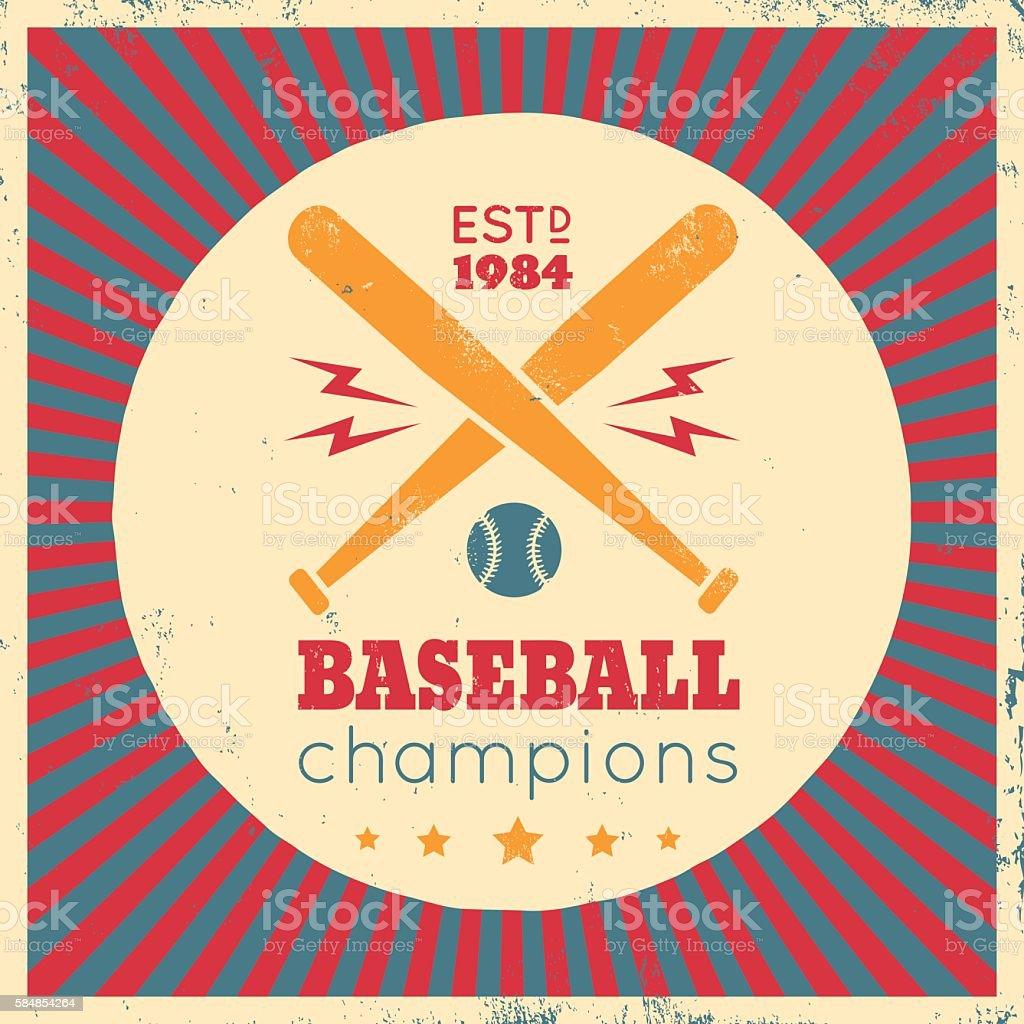Logo for baseball vector art illustration