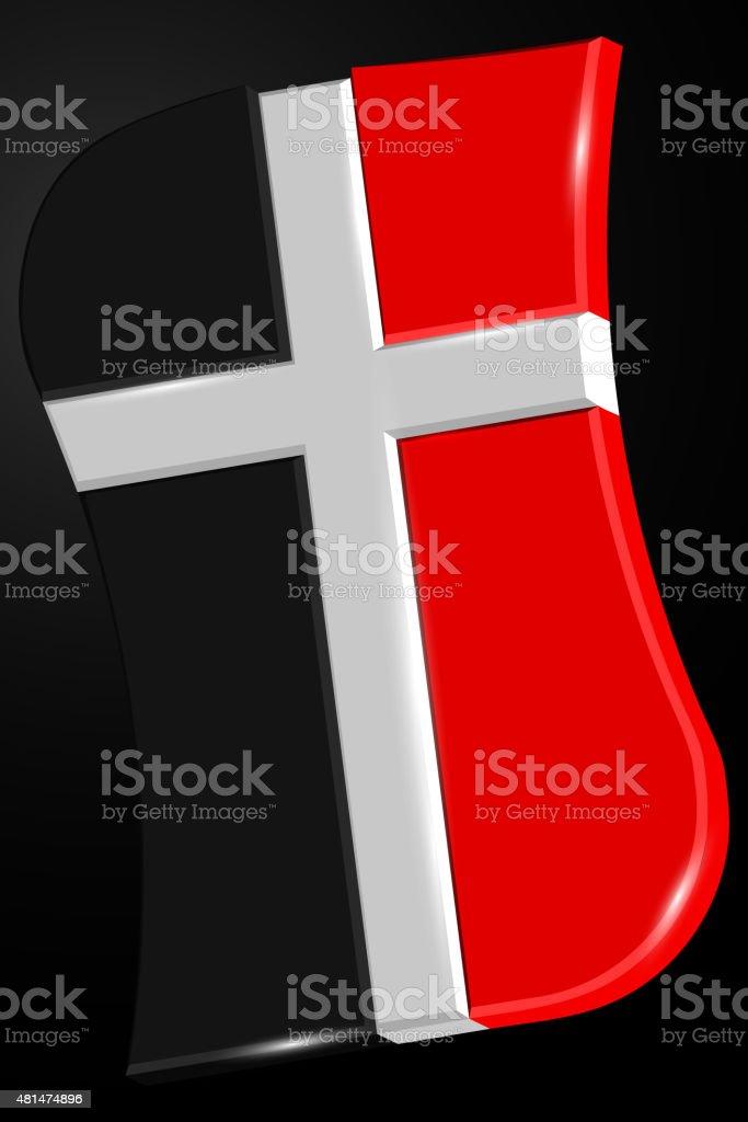 Logo for Church. Cross Logo. Symbol of Christianity vector art illustration