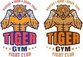 logo for fighting club with angry tiger