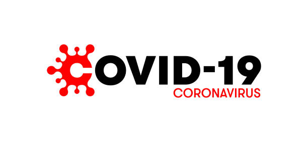 covid-19 logo for infographics. coronavirus disease illustration. creative typography design for blogs and press conferences. unified visual appearance for pandemic communication. - covid testing stock illustrations