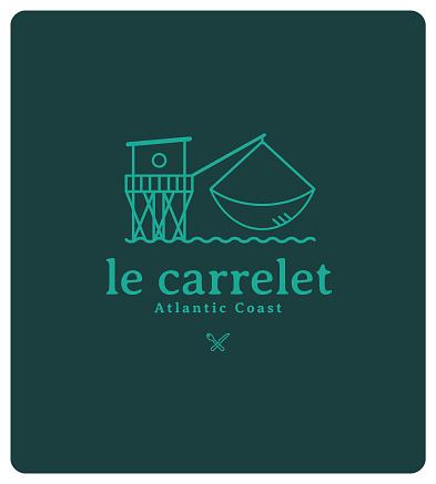Logo for restaurant, auction, fishmonger, producer, market, seafood wholesaler, fishpond, fish, shellfish, seafood