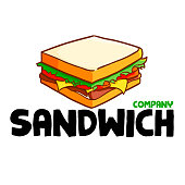 Cute and funny logo for sandwich or company