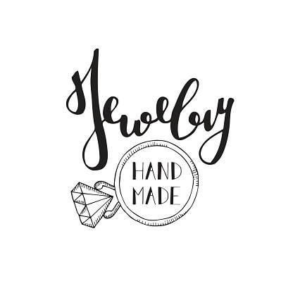 Logo For Shop Of Handmade Jewelry Stock Illustration - Download Image Now