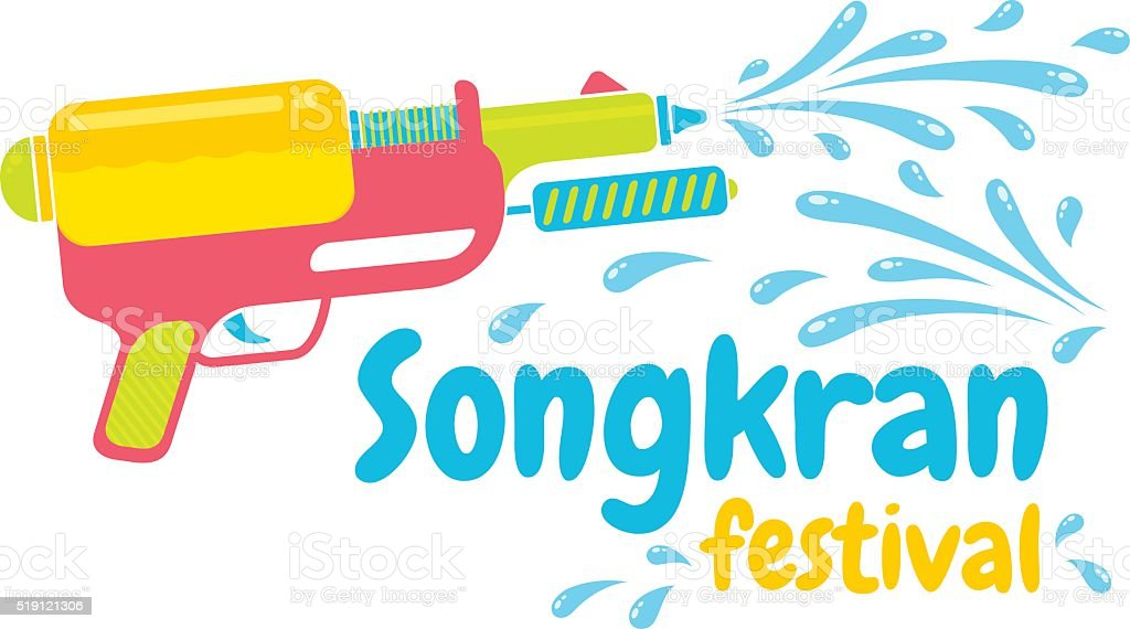 Logo for Songkran vector art illustration