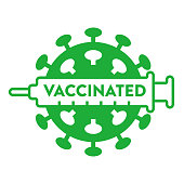 Logo for vaccinated against new coronavirus