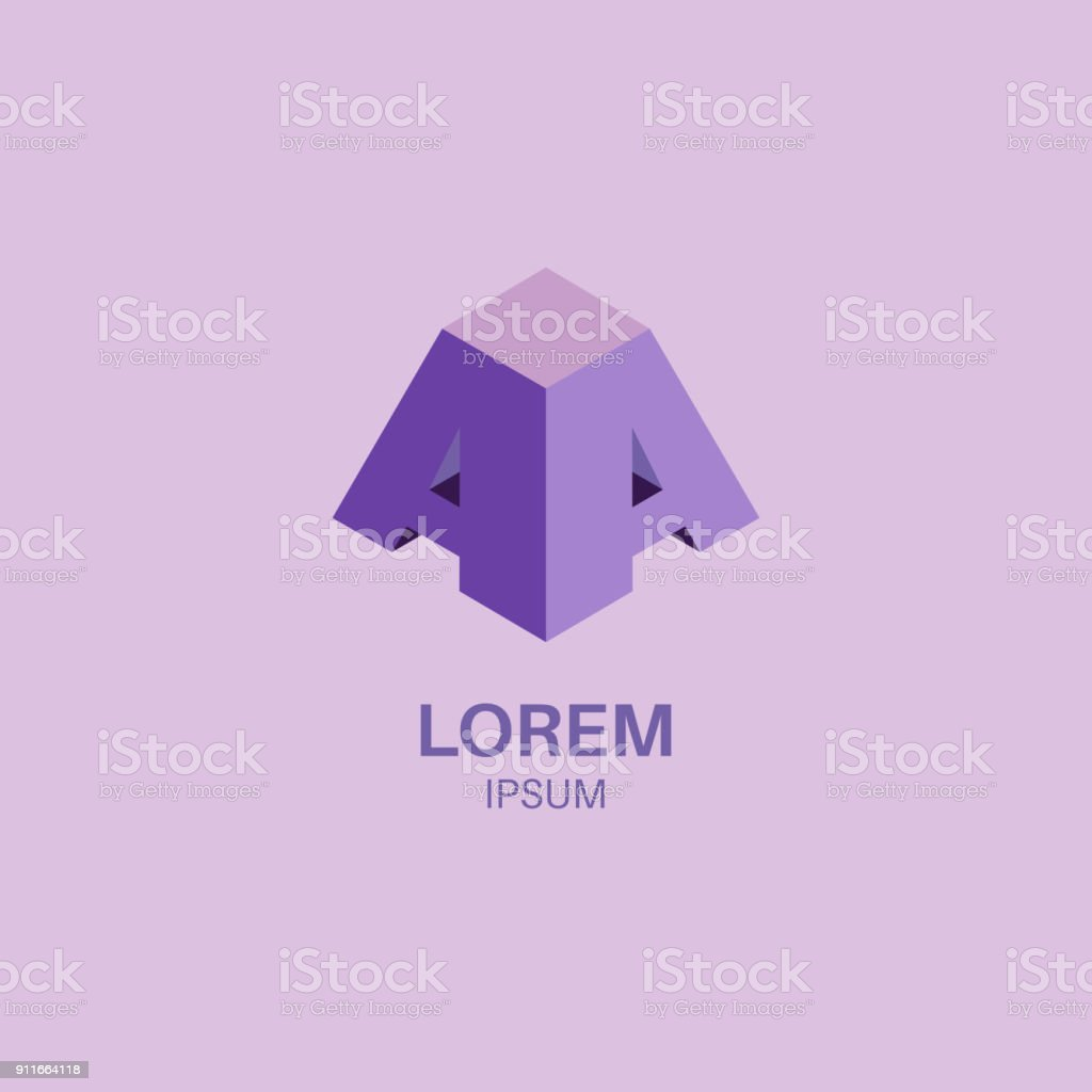 Logo from letters AD vector art illustration