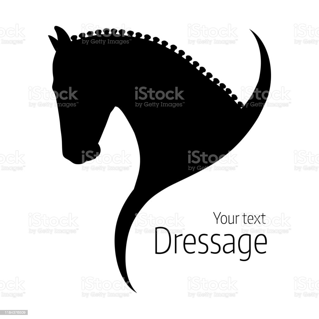 Logo Hand Drawn Black Vector Dressage Horse Silhouette Stock Illustration Download Image Now Istock