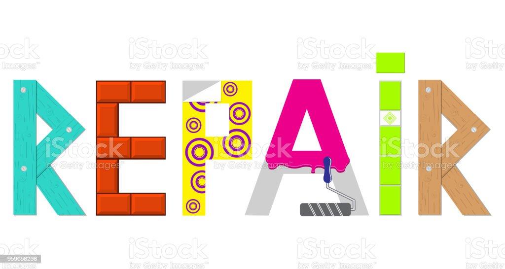 ロゴ自宅の改造白地ロゴ word を修復します木構造煉瓦タイル壁紙の形で