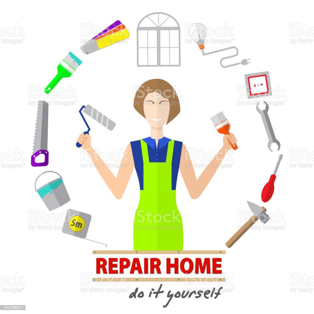 Logo house remodel service tools to repair design of banners with logo house remodel service tools to repair design of banners with tools to repair solutioingenieria Gallery