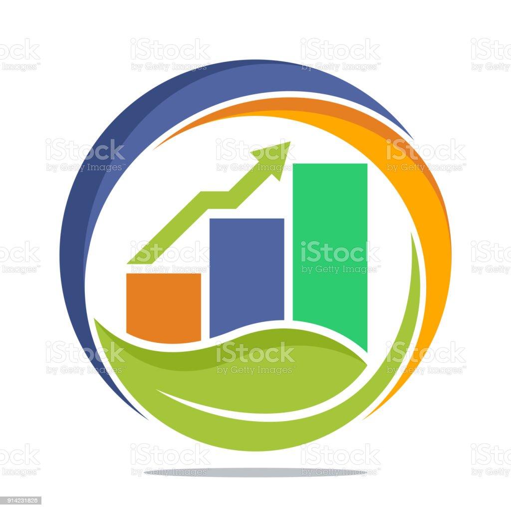 Ilustración de Icono Del Logo De Inversiones De Finanzas Comerciales ...