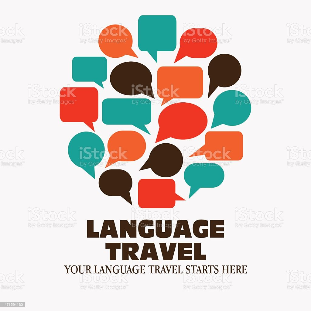 Logo icon - Illustration language travel vector art illustration
