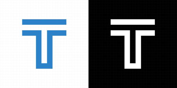 T logo icon Letter T logo icon design template elements. Alphabet in logo design. letter t stock illustrations
