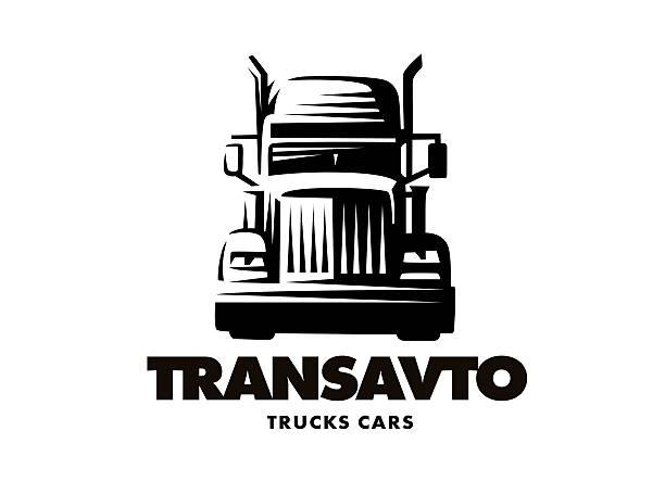 Logo illustration truck on white background vector art illustration
