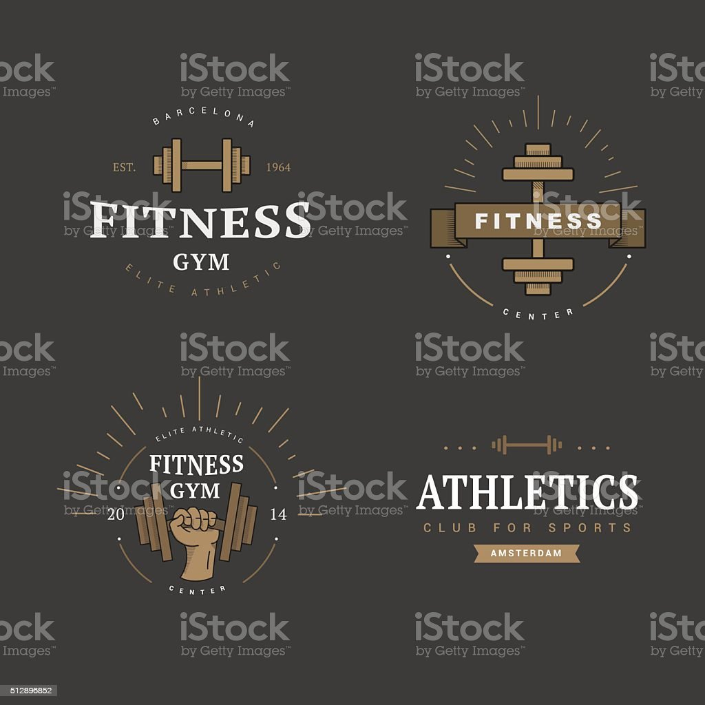 logo in vintage style vector art illustration