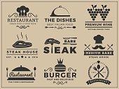 Logo insignia design for Restaurant, Steak house
