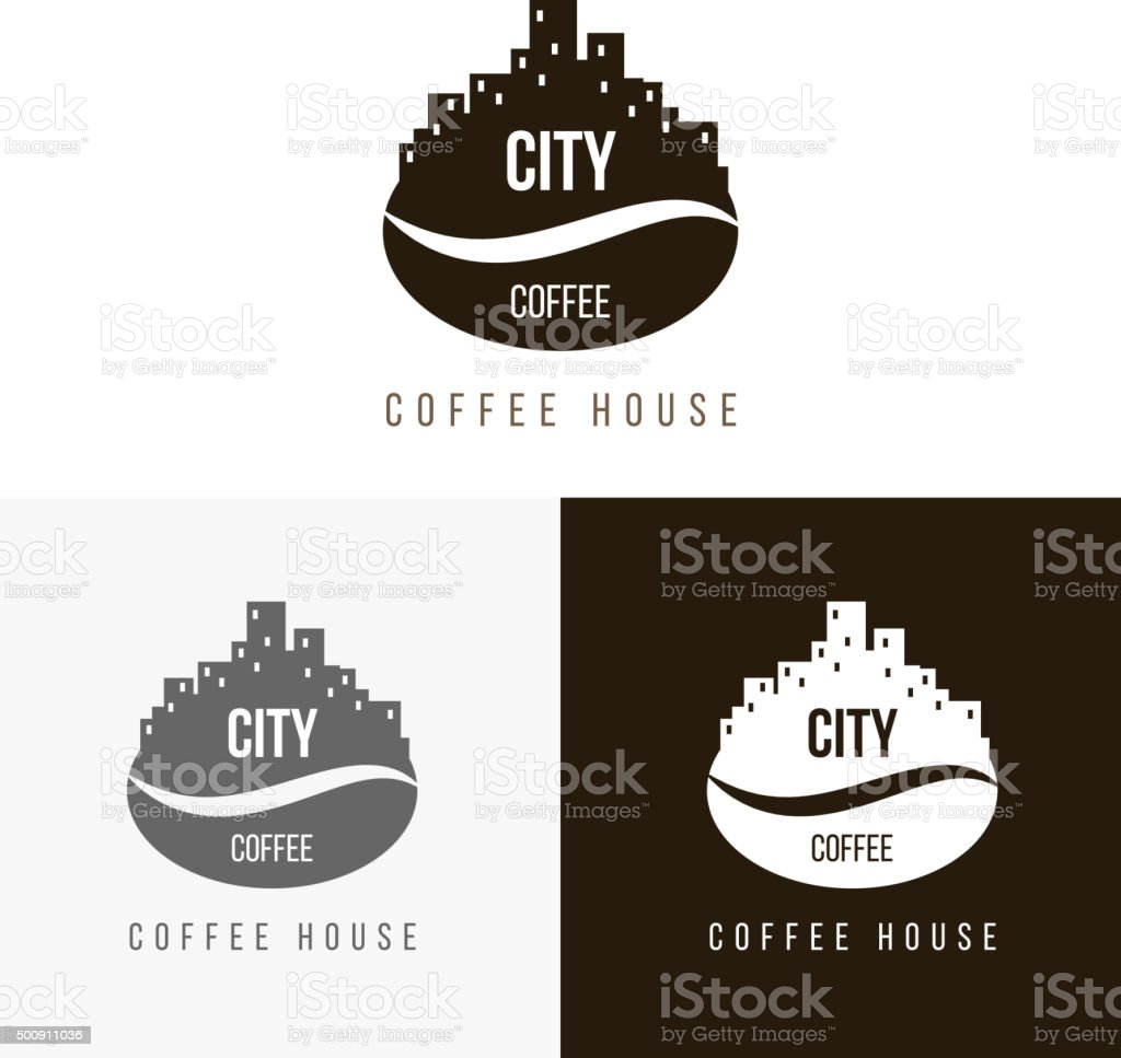 Logoinspiration Mit Kaffee Vektor Illustration 500911036 | iStock