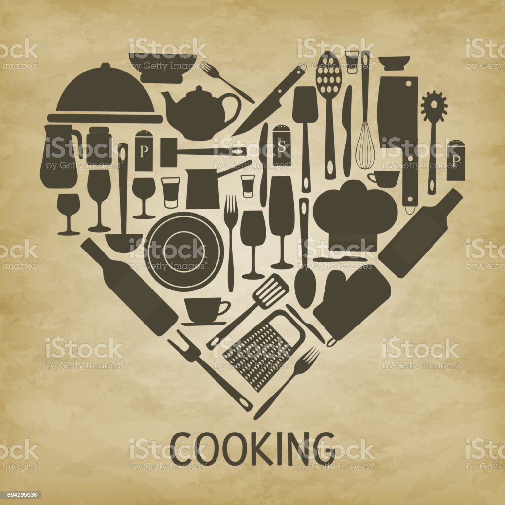 logo kitchen icon heart royalty-free logo kitchen icon heart stock vector art & more images of alcohol