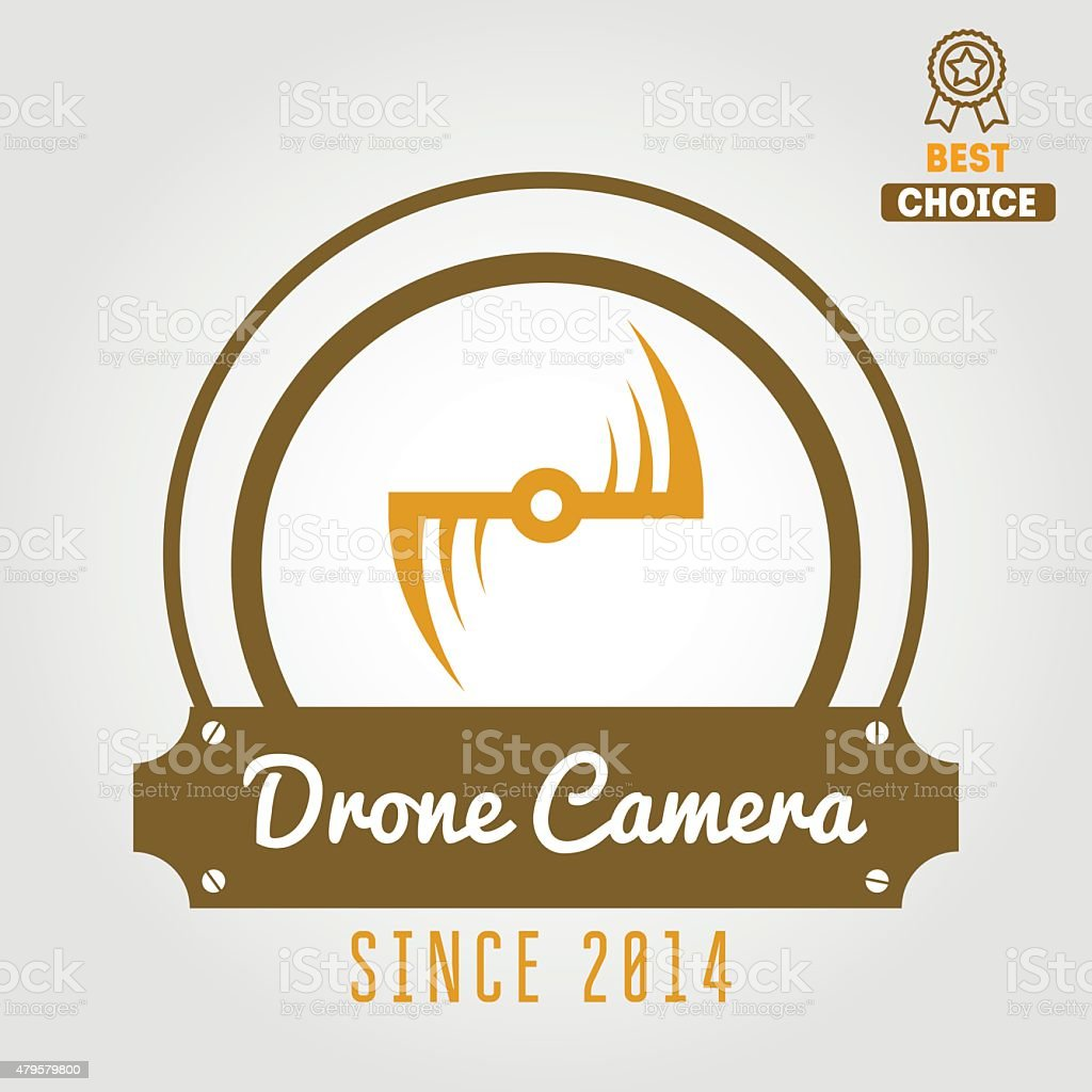 Logo Label Emblem Or Logotype For Drone And Flying Camera Royalty Free Stock