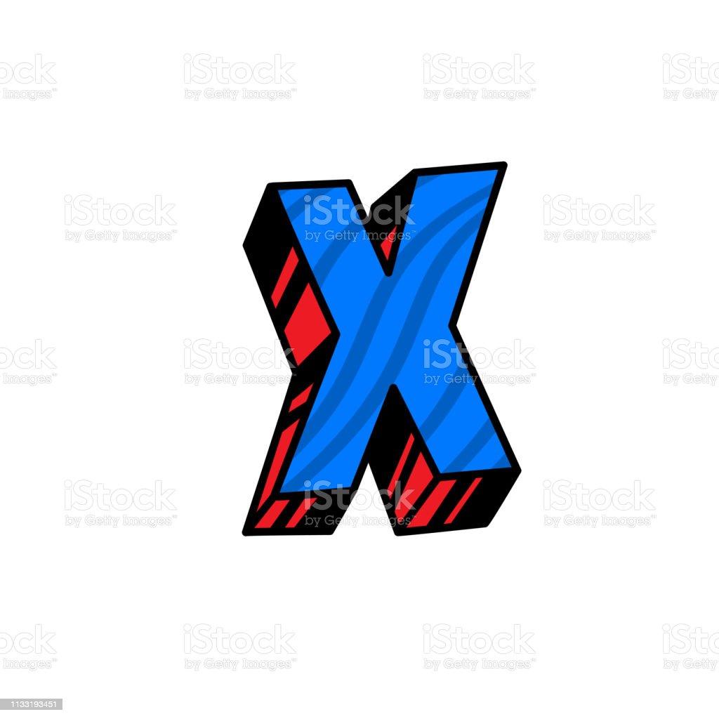Logo Lettre X Vecteur Linéaire Icône De Contour Marque