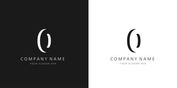 0 logo numbers modern black and white design logo numbers modern black and white design zero stock illustrations