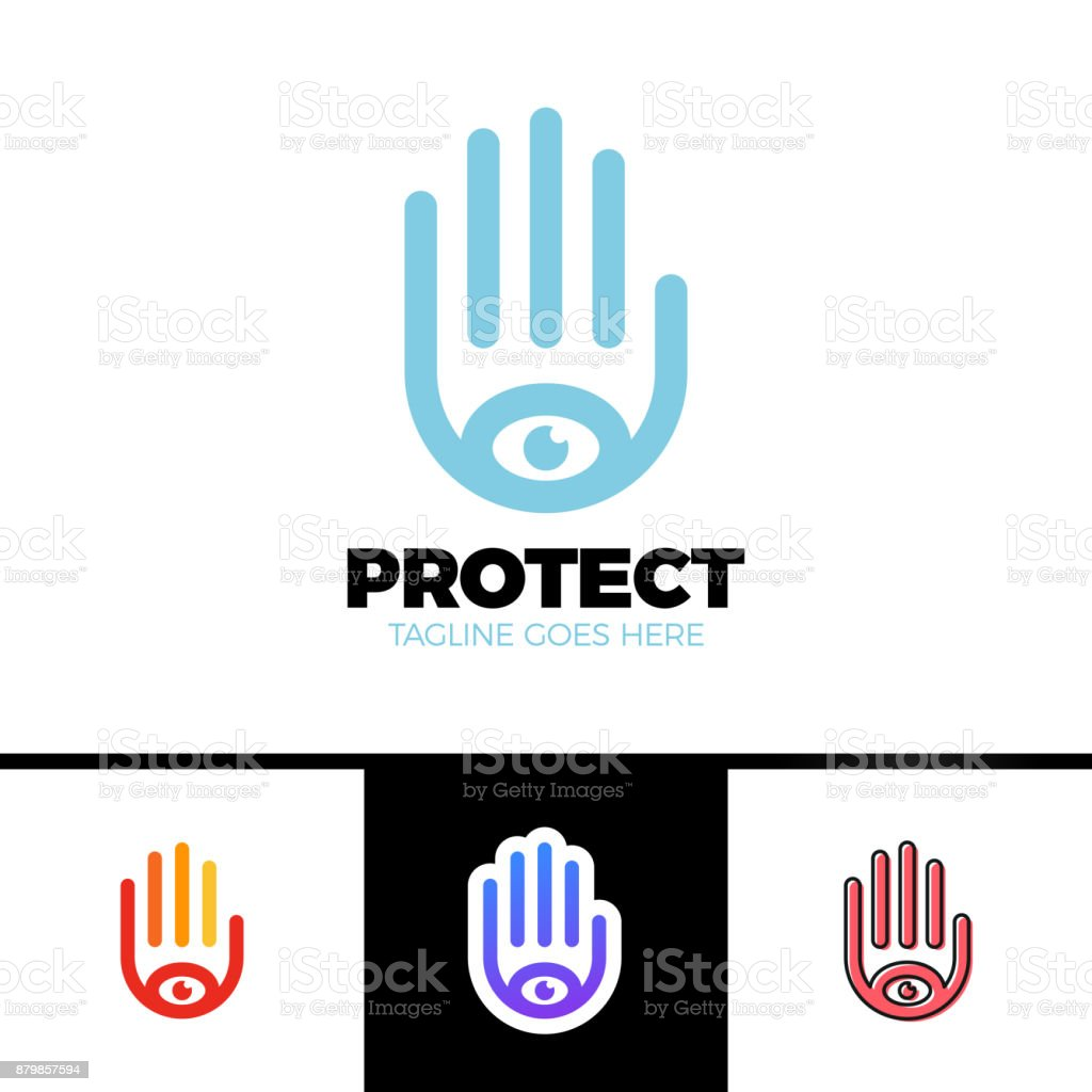 Logo Of A Stylized Hand With Eye Symbol This Logo Is Suitable For
