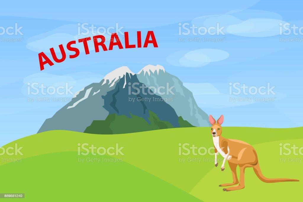 Logo of Australia. vector art illustration