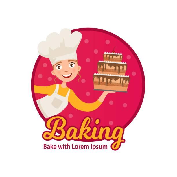ilustrações de stock, clip art, desenhos animados e ícones de logo of home baking. - baking bread at home