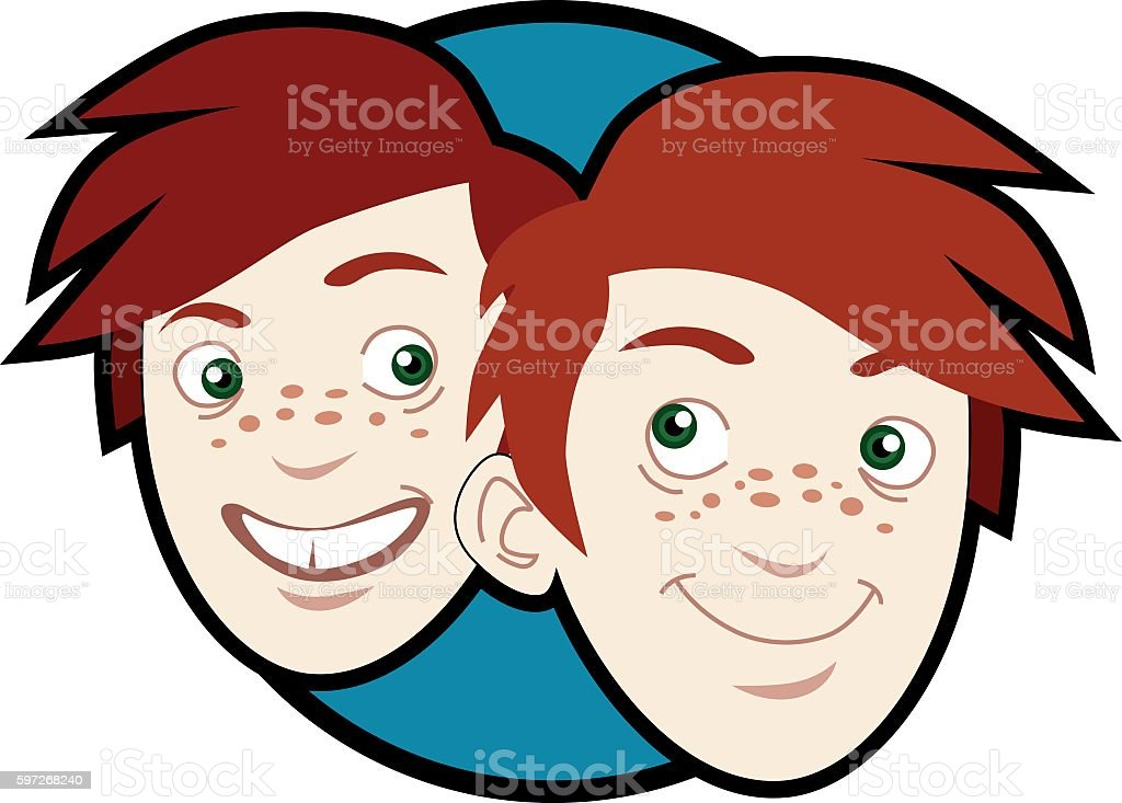 Logo of redheaded twins royalty-free logo of redheaded twins stock vector art & more images of boys