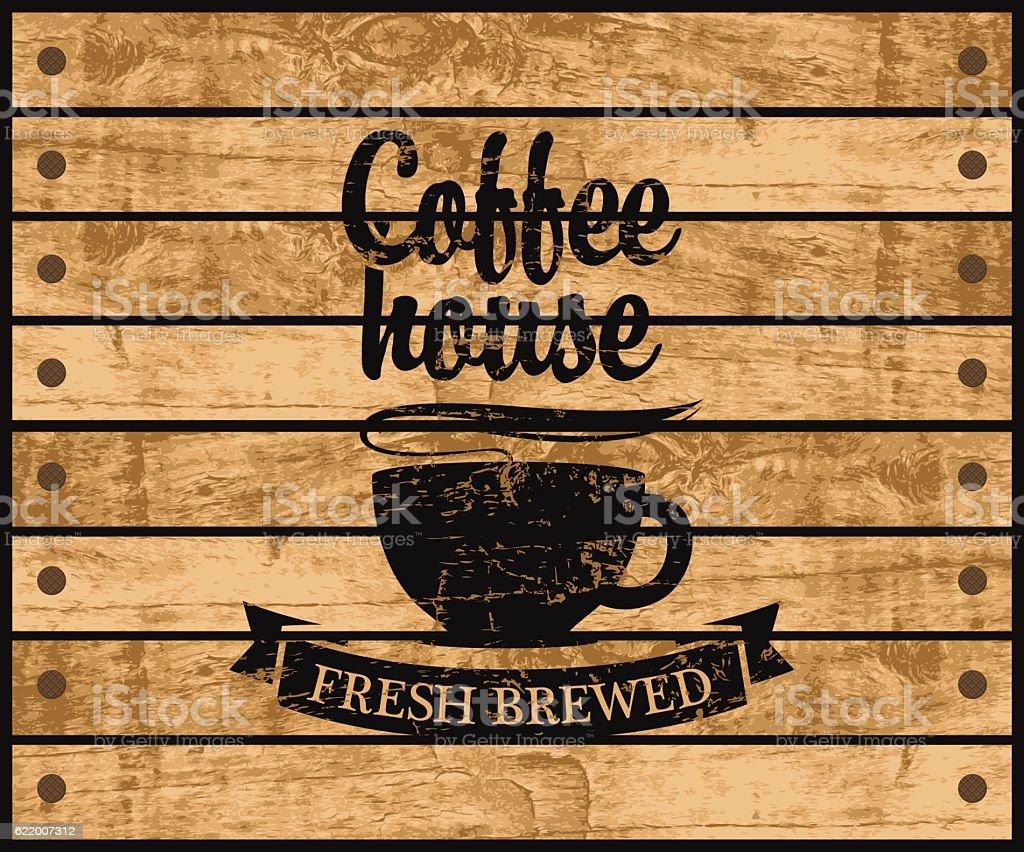 logo of the coffee house vector art illustration
