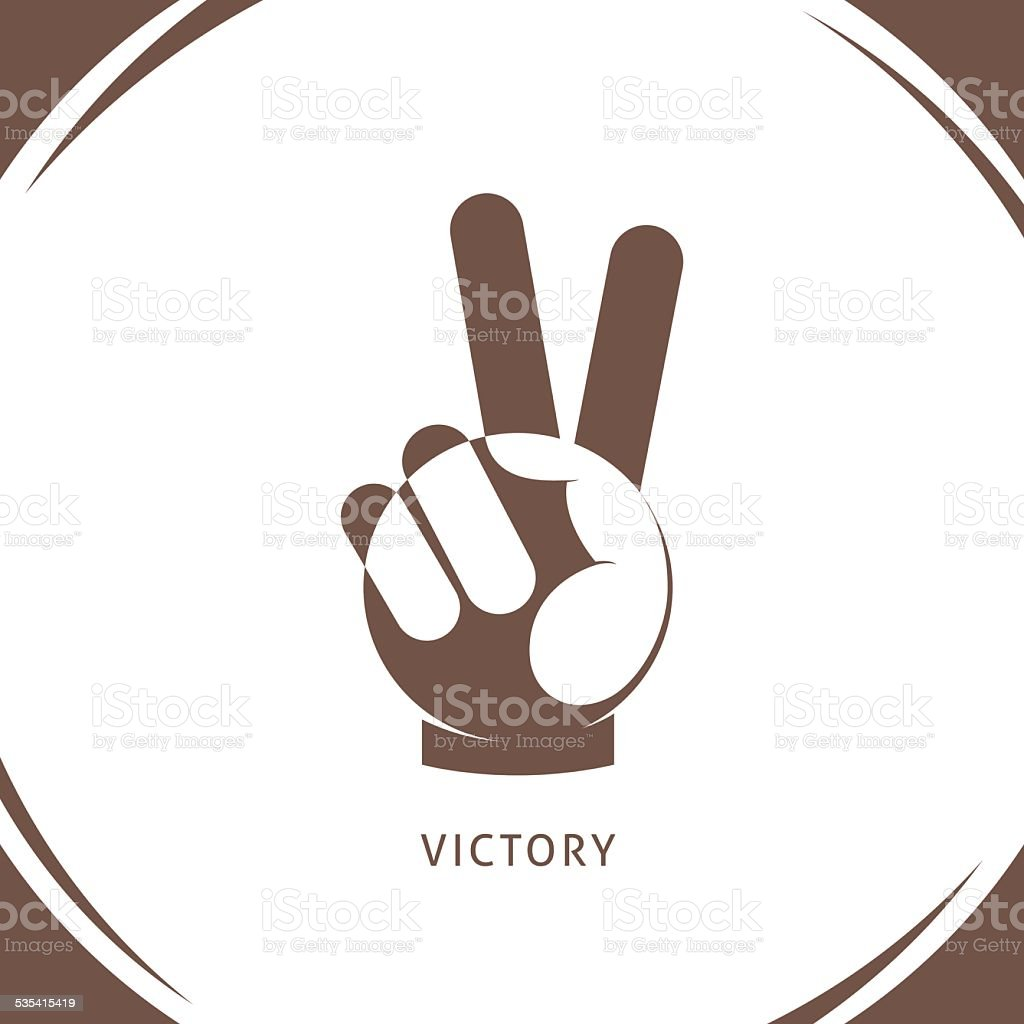 Logo of victory or peace. vector art illustration