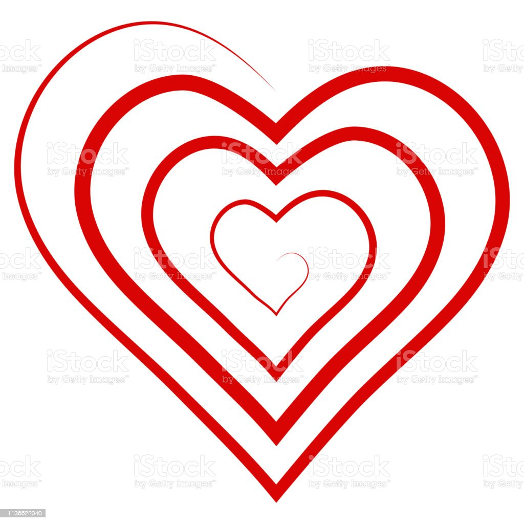 Logo Outline Shape Spiral Heart Vector Symbol Of Infinite Love Heart Shaped Spiral Stock Illustration Download Image Now Istock