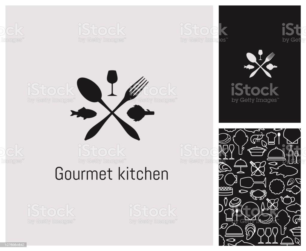 ロゴ、レストラン、identité、enseigne、かけ離れ、甲殻類 ベクターアートイラスト