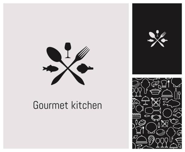 ロゴ、レストラン、identité、enseigne、かけ離れ、甲殻類 - 高級料理点のイラスト素材/クリップアート素材/マンガ素材/アイコン素材