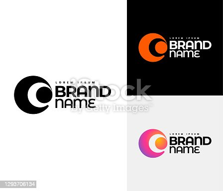C Logo set. Corporate identity design using the letter C. You can change the template and create your own company logo.