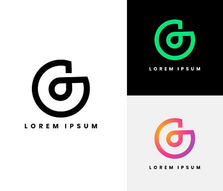 G Logo set. Buy this Logo and Modify and use as your Company Logo or for your clients.  Cheapest Logo set on the market. But It's rich in design and perfect for branding. Each logo comes with a white on dark background and a colored version.