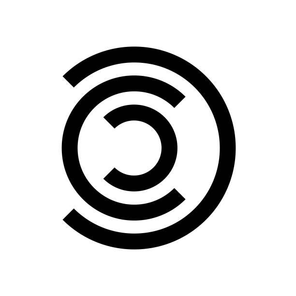 Logo shape C vector art illustration