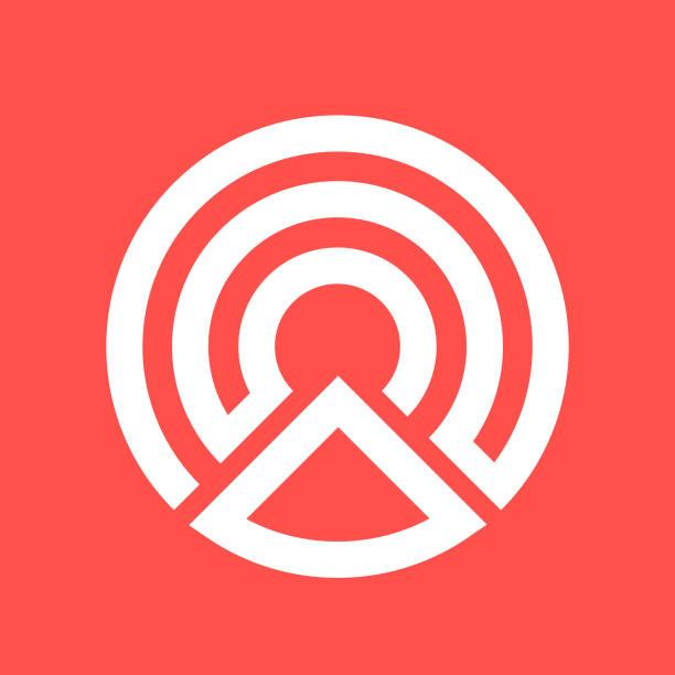 Logo shape C Logo Shape C. alphabet icons stock illustrations