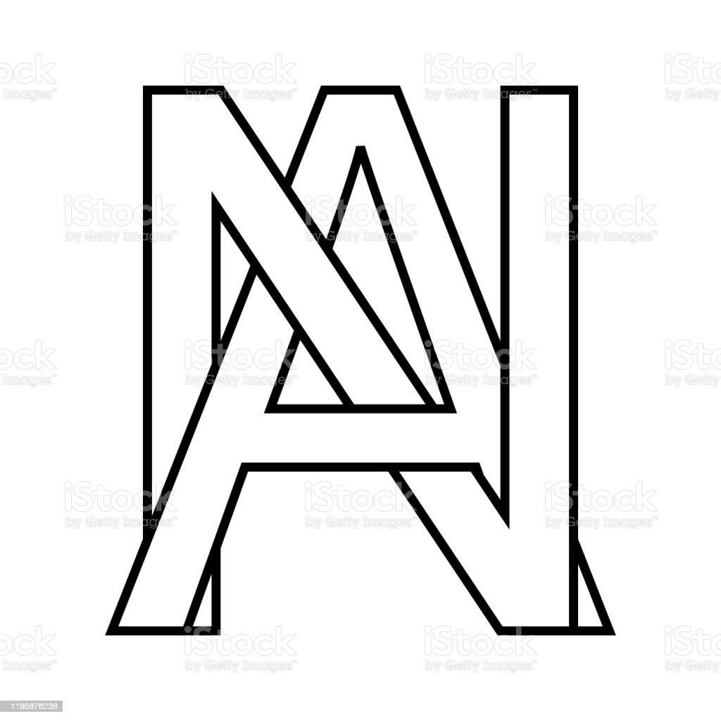 Logo Zeichen Ein Na Symbol Zeichen Verflochten Buchstaben A N ...