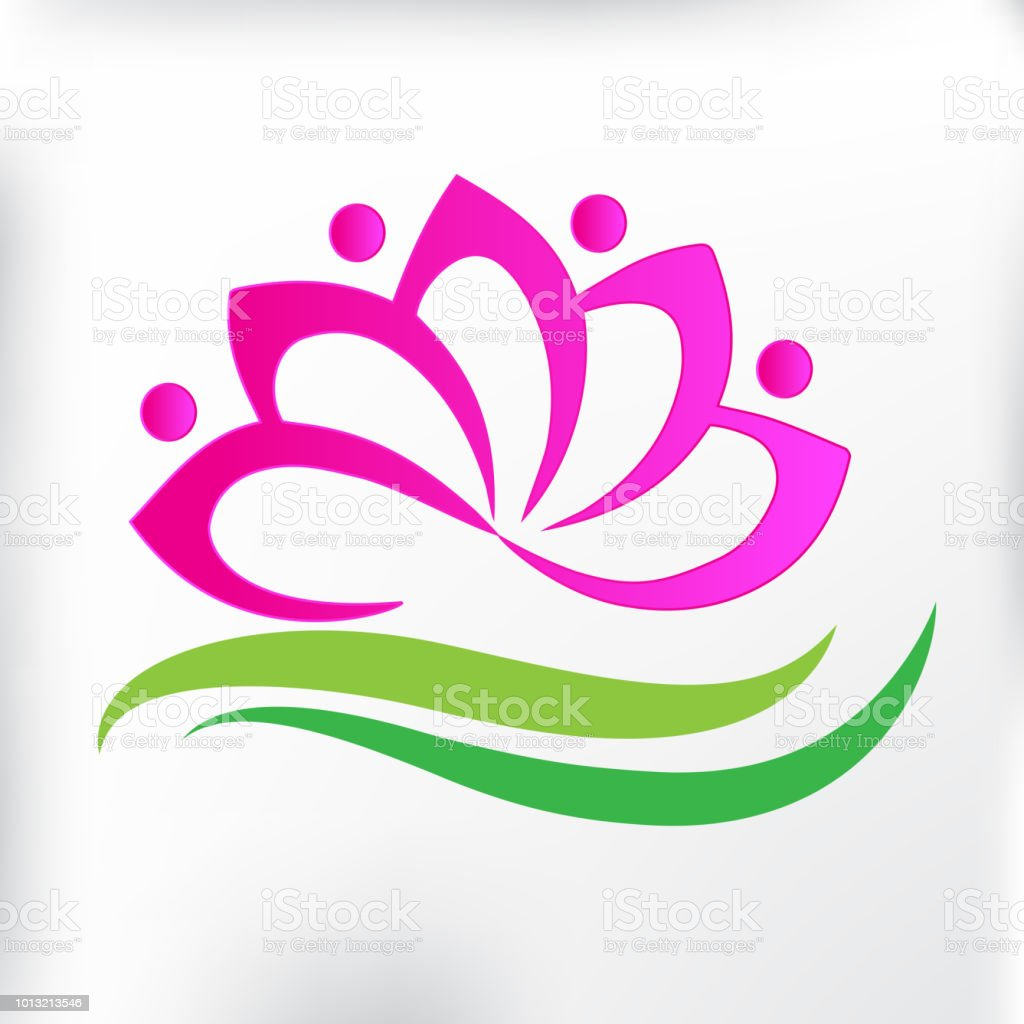 Logo Spa Massage Lotus Flower Icon Id Card Stock Vector Art More
