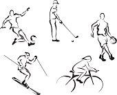 Soccer, golf, basketball, skiing, cycling