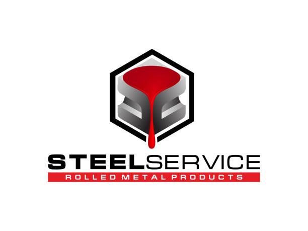 logo-stahlar-service - metallverarbeitung stock-grafiken, -clipart, -cartoons und -symbole