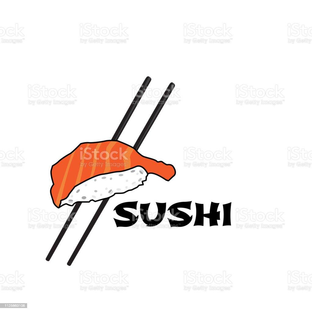 Ilustracion De Restaurante De Sushi De Logo Y Mas Vectores Libres De Derechos De Alga Marina Istock