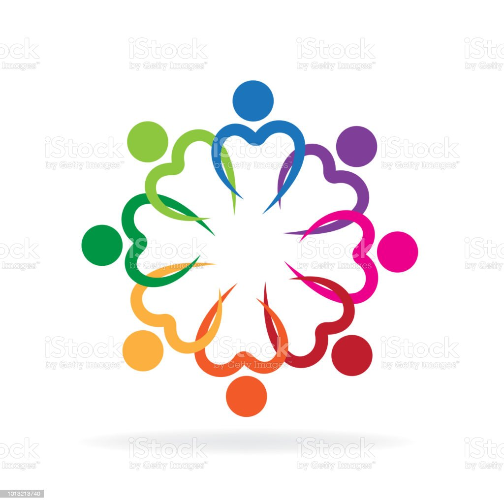 Logo Teamwork Love Heart Symbol Unity Charity Friendship People Stock Illustration Download Image Now Istock