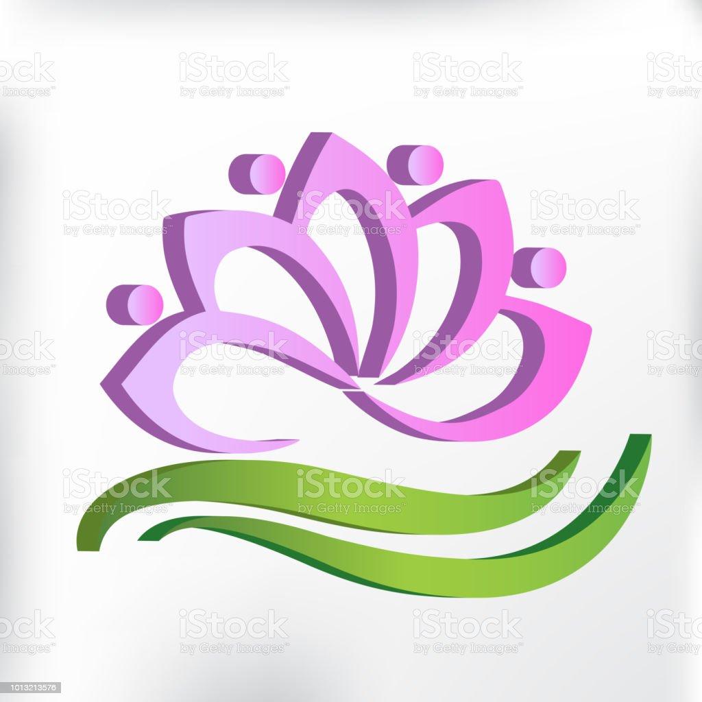 Logo teamwork spa massage lotus flower icon id card stock vector art logo teamwork spa massage lotus flower icon id card royalty free logo teamwork spa massage izmirmasajfo