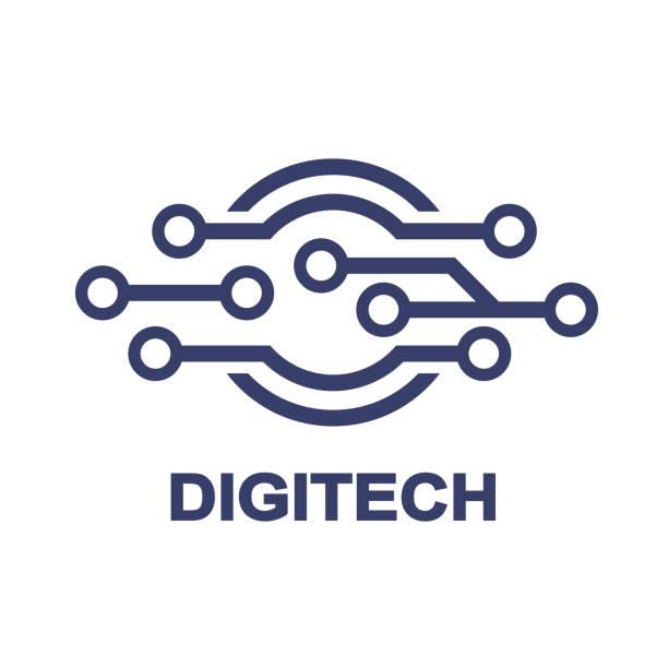Logo - technology, biotechnology, tech icon and symbol vector art illustration