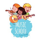 Logo template for music school.