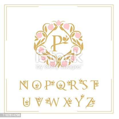 logo pattern letters framed with garnet pattern