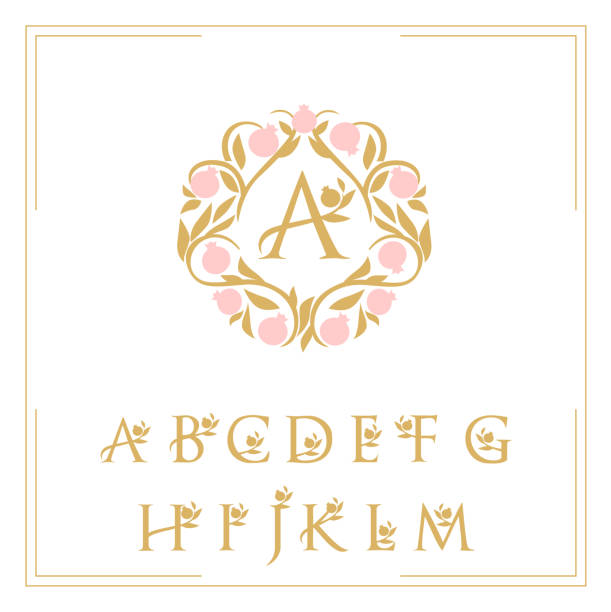 logo template the letters are framed with a pattern logo pattern letters framed with garnet pattern k logo stock illustrations