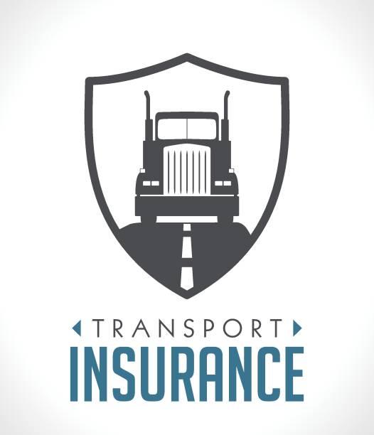 ilustraciones, imágenes clip art, dibujos animados e iconos de stock de logo - concepto de seguro de transporte y logística - conductor de autobús