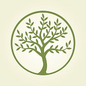 Logo tree, green circle